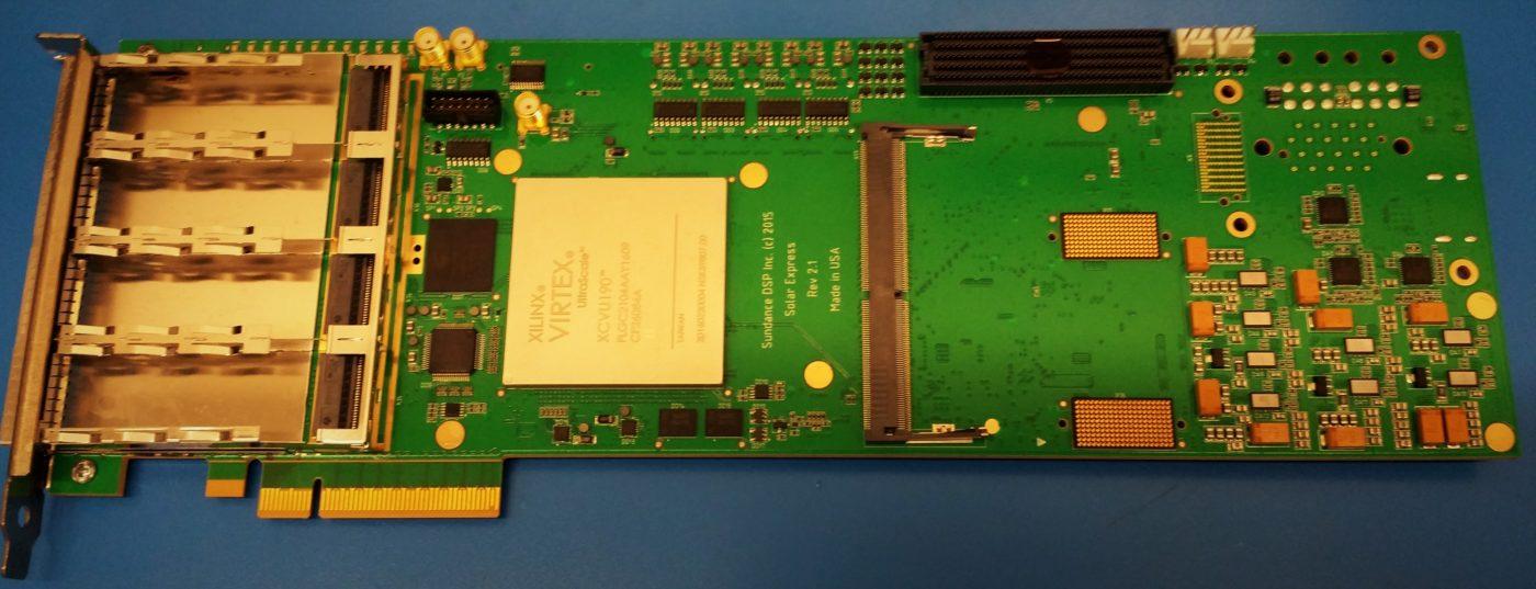 Xilinx Virtex Ultrascale FPGA PCIe board with XCVU190-2FLGC2104E