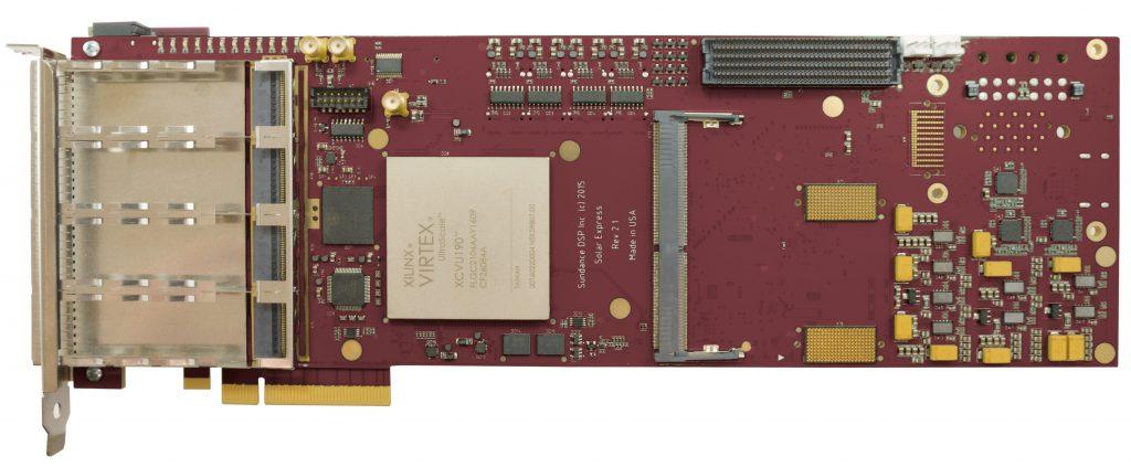 PCIe FPGA board carier with Xilinx Virtex Ultrascale