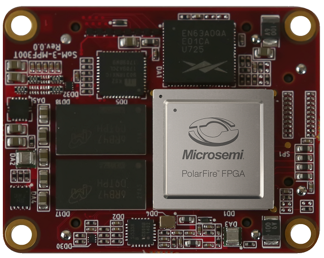 SOM3 (System on Module) based on PolarFire FPGA MPF300T