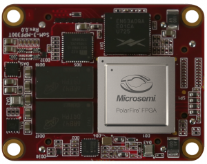 SoM3-MPF300T System on Module  (SoM), using Microsemi PolarFire MPF300T-1FCVG484 FPGA