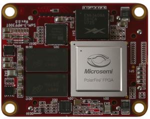 SOM-3-MPF300T module, using Microsemi PolarFire FPGA