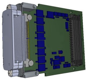 FMC-GPIO68SE, Conduction cooled HPC GPIO FMC with 68 Single Ended IOs with 3.3 and 5V tolerance.
