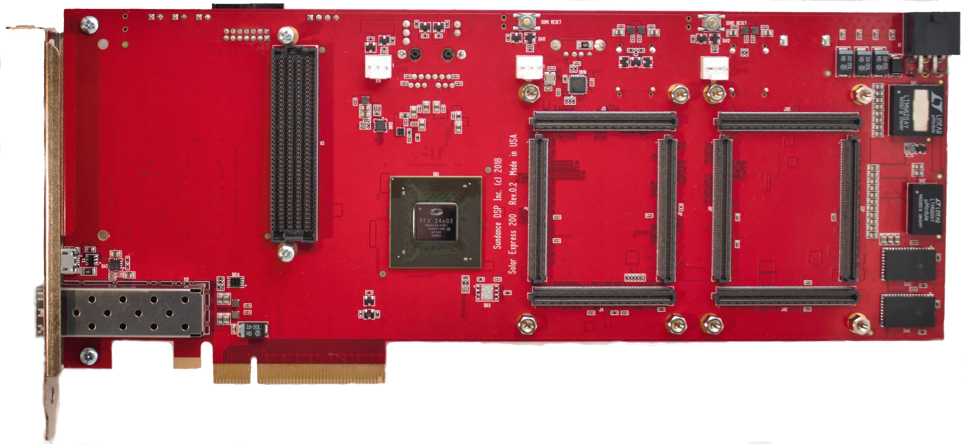 SoM carrier for Polar Fire FPGAs
