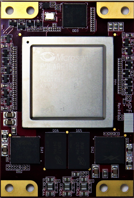 System on Module (SoM), based on Microchip MPF500T-2FCG1152E