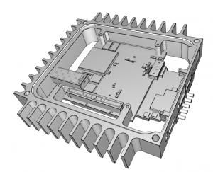 PC104P PolarFire FPGA peripheral board in PCie104 format