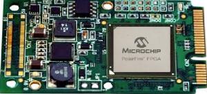 Solar Express 50 (SE50) , miniPCIe IO and processing module based on Microsemi PolarFire MPF300T-1FCVG484 FPGA